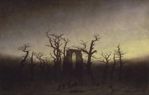 Caspar David Friedrich L'Abbaye dans une forêt de chêne.jpg